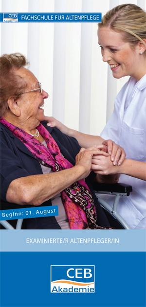 Flyer: Ausbildung zum/zur examinierten Altenpfleger/in